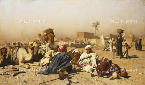 ATK-F-037867-0000 - An Arab Encampment. 1880,Oil/Canvas,19th century,Müller,Leopold Carl,1834-1892 - Christie's Images / Artothek/Alinari Archives