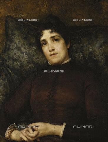 ATK-F-037872-0000 - Portrait of Mrs. Frank D. Millet. 1886,Alma-Tadema,Sir Lawrence,1836-1912,Oil/Canvas,19th century,Portrait - Christie's Images / Artothek/Alinari Archives
