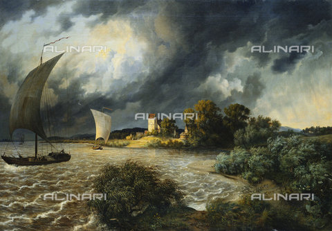 ATK-F-037874-0000 - The Approaching Storm. 1838,19th century,Oil/Canvas,Oehme,Ernst Ferdinand,1797-1855 - Christie's Images / Artothek/Alinari Archives