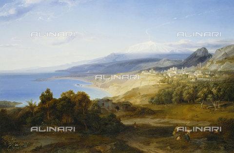 ATK-F-037875-0000 - Taormina.,Rottmann,Carl,1797-1850,Oil/Canvas,19th century,landscape - Christie's Images / Artothek/Alinari Archives
