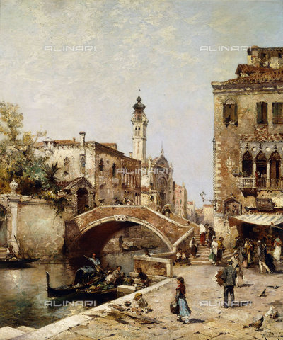 ATK-F-037885-0000 - Santa Catarina Canal, Venice.,Oil/Canvas,19th century,Unterberger,Franz Richard,1838-1902 - Christie's Images / Artothek/Alinari Archives