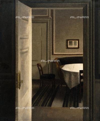 ATK-F-037890-0000 - Interior, Strandgade 30. 1904,Hammershoi,Vilhelm,1864-1916,Oil/Canvas,20th century - Christie's Images / Artothek/Alinari Archives