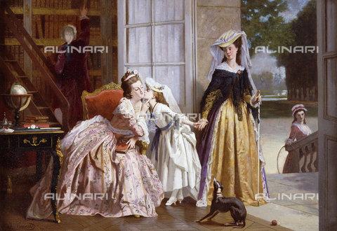 ATK-F-037894-0000 - A Parting Kiss.,Oil/Wood,19th century,Caraud,Joseph,1821-1905 - Christie's Images / Artothek/Alinari Archives