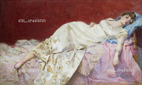 ATK-F-037895-0000 - A Moment of Repose.,20th century,Oil on canvas on cardboard,1842-1920,Marqués,Francisco Domingo - Christie's Images / Artothek/Alinari Archives