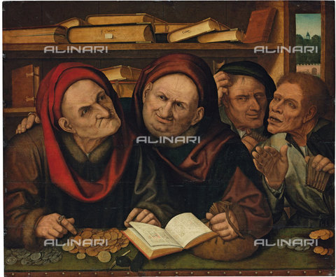 ATK-F-038110-0000 - Suppliants in the Office of two Tax Collectors.,oil on wood,16th century,Massys the Younger,Quentin,1543-1589 - Christie's Images / Artothek/Alinari Archives