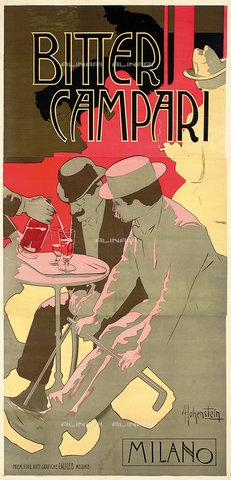 ATK-F-038372-0000 - Bitter Campari. Around 1900,Colour lithograph,Hohenstein,Adolf,1854-1928 - Christie's Images / Artothek/Alinari Archives