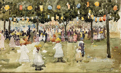 ATK-F-038495-0000 - Central Park, New York City, July 4th. Ca. 1900-03,Prendergast,Maurice Brazil,1859-1924,Watercolour and pencil,on paper - Christie's Images / Artothek/Alinari Archives