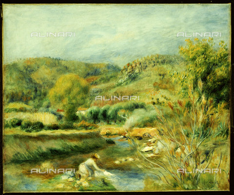 ATK-F-038498-0000 - The Washerwoman (La Laveuse). Around 1891 Oil on canvas.,Renoir,Auguste,1841-1919,oil on canvas,19th century - Christie's Images / Artothek/Alinari Archives