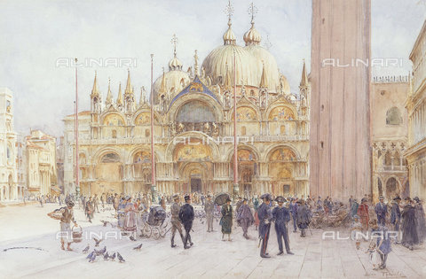 ATK-F-038499-0000 - St Marks Square, Venice.,Watercolour over pencil,Tyndale,Walter Frederick Roofe,1855-1943 - Christie's Images / Artothek/Alinari Archives