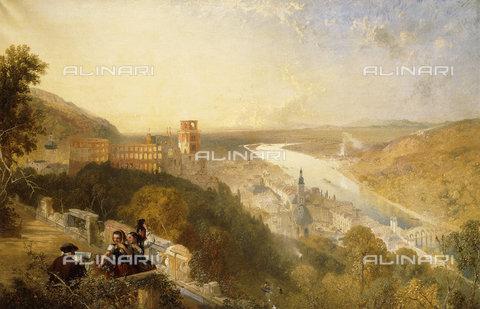ATK-F-038501-0000 - Heidelberg from the Terrace.,Oil/Canvas,19th century,Pyne,James Baker,1800-1870,and John Phillip (1817-1867) - Christie's Images / Artothek/Alinari Archives