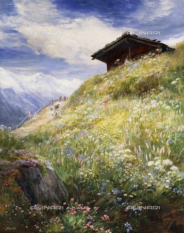 ATK-F-038502-0000 - An Alpine Meadow, Switzerland.,Oil/Canvas,20th century,MacWhirter,John,1839-1911 - Christie's Images / Artothek/Alinari Archives