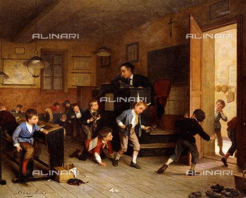ATK-F-038503-0000 - While Teacher Sleeps.,Oil/Wood,19th century,Genre,Dargelas,André Henri,1828-1906 - Christie's Images / Artothek/Alinari Archives