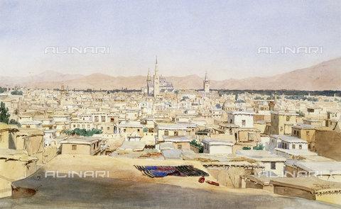 ATK-F-038507-0000 - Damascus. 1844,Watercolour over Pencil on Paper,19th century,Schmidt,Max,1818-1901 - Christie's Images / Artothek/Alinari Archives