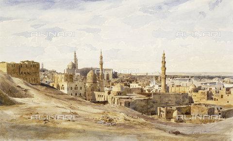 ATK-F-038508-0000 - Cairo.,Watercolour over Pencil on Paper,19th century,Schmidt,Max,1818-1901 - Christie's Images / Artothek/Alinari Archives