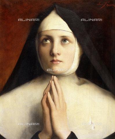 ATK-F-038509-0000 - The Nun.,Oil/Canvas,19th century,Frappa,Jose,1854-1904 - Christie's Images / Artothek/Alinari Archives