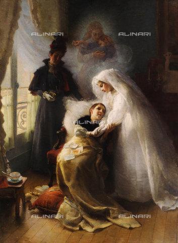 ATK-F-038513-0000 - The Visit.,Stewart,Julius Leblanc,1855-1919,oil/canvas,19th century - Christie's Images / Artothek/Alinari Archives