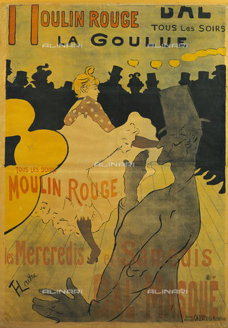ATK-F-038515-0000 - Moulin-Rouge, La Goulue. 1891,Toulouse-Lautrec,Henri de,1864-1901,Colour lithograph - Christie's Images / Artothek/Alinari Archives