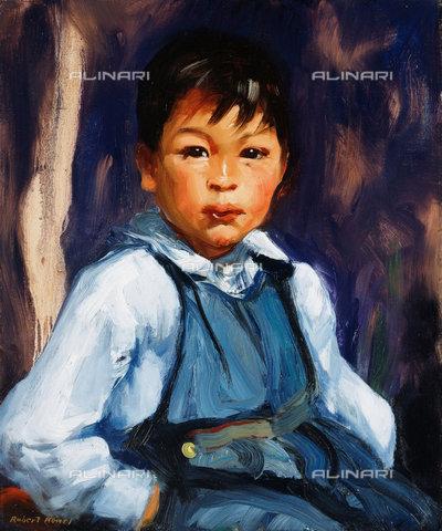ATK-F-038518-0000 - A New Mexico Boy.,oil/canvas,Henri,Robert,1865-1929,20th century,Portrait - Christie's Images / Artothek/Alinari Archives
