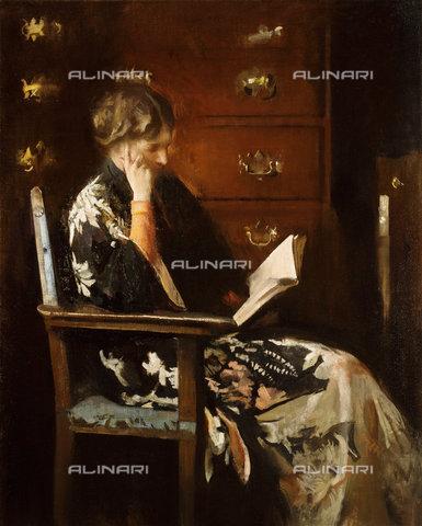 ATK-F-038521-0000 - Mary Reading.,Tarbell,Edmund Charles,1862-1938,oil/canvas,19th century,20th century - Christie's Images / Artothek/Alinari Archives