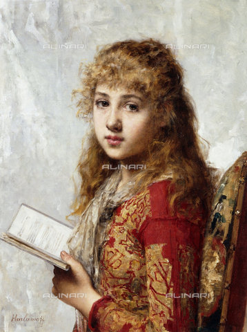 ATK-F-038685-0000 - Contemplation.,Oil/Canvas,19th century,Harlamoff,Alexei Alexeiewitsch,1842-1922,Portrait - Christie's Images / Artothek/Alinari Archives