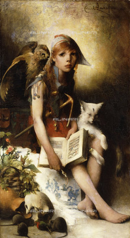 ATK-F-038686-0000 - The Witch's Daughter. 1881,Larsson,Carl,1853-1919,Oil/Canvas,19th century,20th century - Christie's Images / Artothek/Alinari Archives