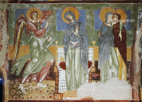 ATK-F-038800-0000 - Annunciation and Visitation, fresco, chapel of the castle, Castel d'Appiano - Hirmer Fotoarchiv / Artothek/Alinari Archives