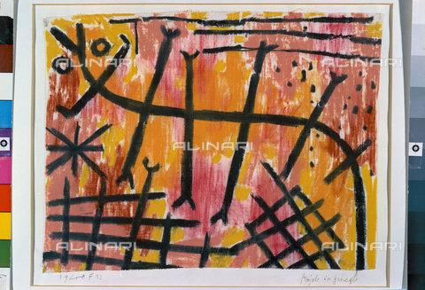 ATK-F-044983-0000 - Assjel in an enclosure (Assjel im Gehege). 1940, 353,Klee,Paul,1879-1940,Bern,Zentrum Paul Klee,Pastel,20th century,on cotton on cardboard - Artothek/Alinari Archives, Hans Hinz