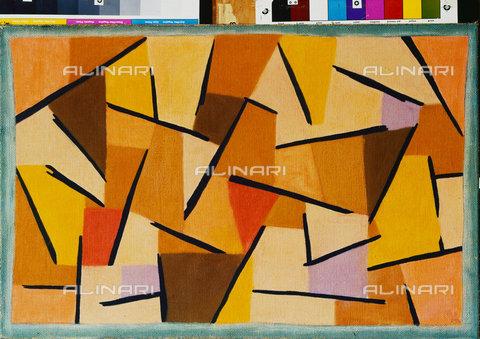 ATK-F-045113-0000 - Harmonised fight (Harmonisierter Kampf). 1937, 206,Klee,Paul,1879-1940,Bern,Zentrum Paul Klee,Pastel,20th century,on cotton on glue on jute on strechter frame - Artothek/Alinari Archives, Hans Hinz