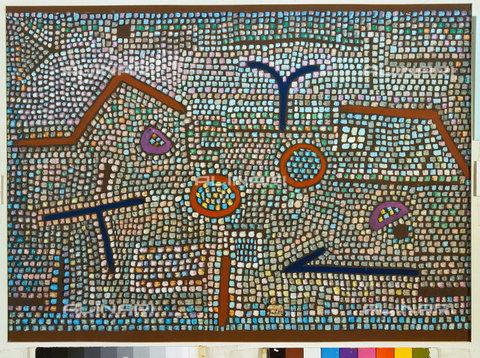ATK-F-045122-0000 - Mosaic from Prhun. 1931, 178,Klee,Paul,1879-1940,Watercolour and gouache,20th century,on paper,on cardboard,Niigata,City Art Museum - Artothek/Alinari Archives, Hans Hinz