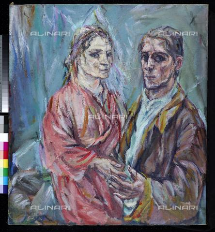 ATK-F-048341-0000 - Doppio ritratto di Oskar Kokoschka e Alma Mahler, olio su tela, Oskar Kokoschka (1886-1980), Museum Folkwang, Essen - Artothek/Archivi Alinari, Museum Folkwang Essen