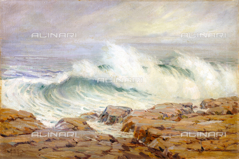 ATK-F-053358-0000 - Breaking Wave, oil on masonite, Anna Althea Hills (1882-1930) - Christie's Images Ltd / Artothek/Alinari Archives