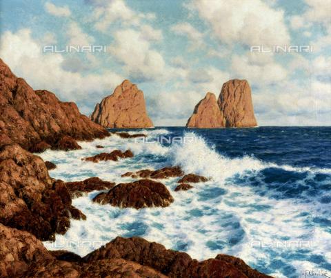 ATK-F-053359-0000 - The rocks in Capri, oil on canvas, Ivan Choultse (1877-1932) - Christie's Images Ltd / Artothek/Alinari Archives