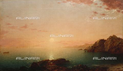 ATK-F-056331-0000 - Coastal Sunset, oil on canvas, John Frederick Kensett (1837-1908) - Christie's Images Ltd / Artothek/Alinari Archives