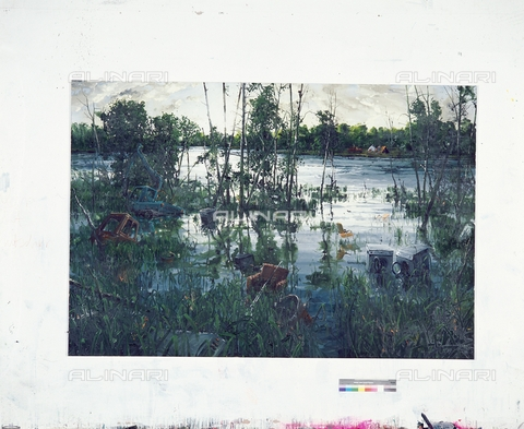 ATK-F-057162-0000 - Marsh. 2006 (Swamp 2006), acrylic on canvas, Sven Kroner (1973-), Private Collection, Wassenaar - Sven Kroner / Artothek/Alinari Archives