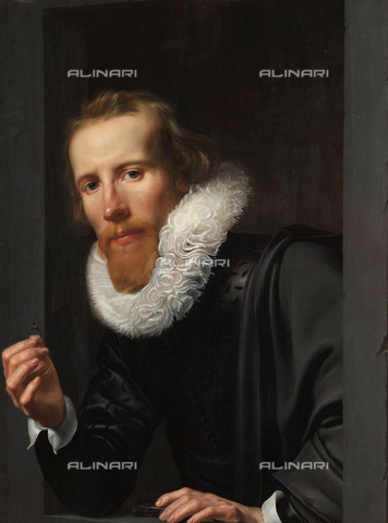 ATK-F-059053-0000 - Portrait of a goldsmith, probable portrait of Bartholomeus Jansz van Assendelft, oil on panel, J. Werner van Valckert (1585-1627) Rijksmuseum, Amsterdam - Rijksmuseum Amsterdam / Artothek/Alinari Archives