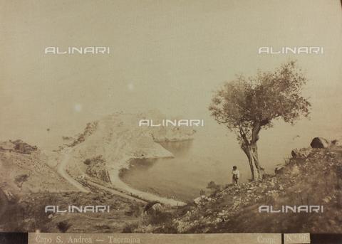 AVQ-A-000003-0046 - View of Capo Sant'Andrea, near Taormina - Data dello scatto: 1880-1890 - Archivi Alinari, Firenze