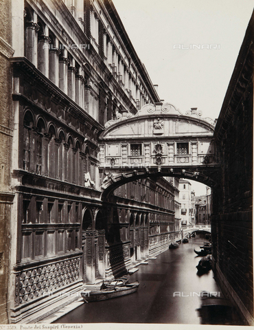 AVQ-A-000039-0011 - The Bridge of Sighs in Venice - Data dello scatto: 1870 ca. - Archivi Alinari, Firenze