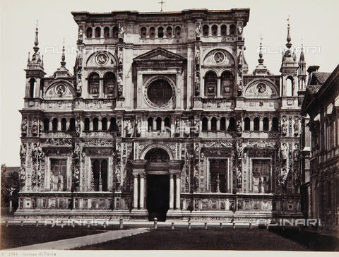 AVQ-A-000039-0013 - Facade of the Certosa di Pavia - Data dello scatto: 1870 ca. - Archivi Alinari, Firenze