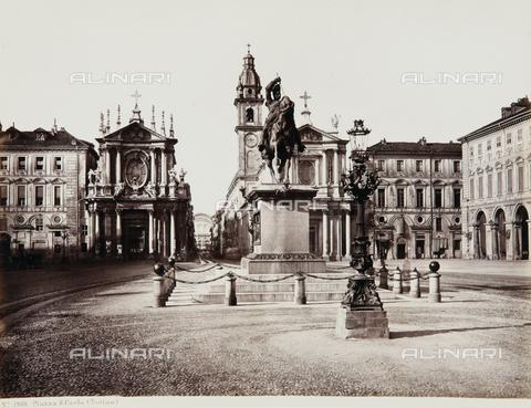 AVQ-A-000039-0021 - Piazza San Carlo, Turin - Data dello scatto: 1870 ca. - Archivi Alinari, Firenze