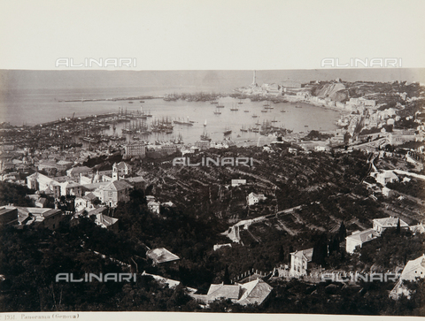AVQ-A-000039-0023 - A panoramic view of Genoa - Data dello scatto: 1870 ca. - Archivi Alinari, Firenze