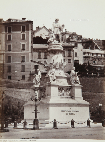AVQ-A-000039-0026 - Monument to Christopher Columbus, Genoa - Data dello scatto: 1870 ca. - Archivi Alinari, Firenze