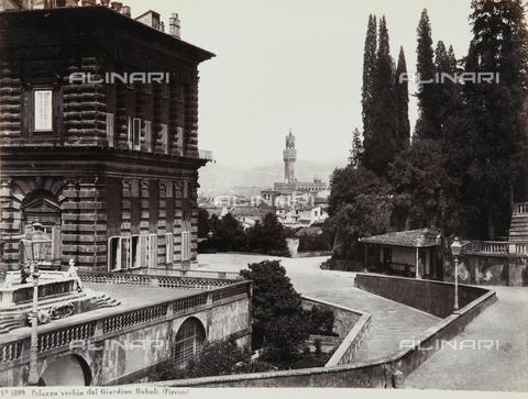 AVQ-A-000039-0029 - Palazzo Vecchio seen from the Boboli Gardens, Florence - Data dello scatto: 1870 ca. - Archivi Alinari, Firenze