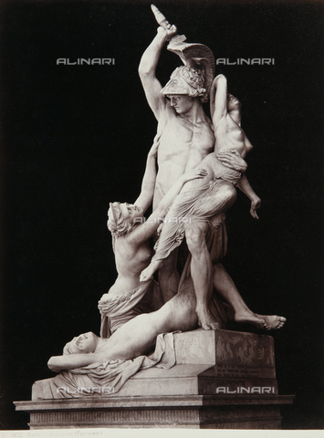AVQ-A-000039-0038 - The Rape of Polissena, Loggia de 'Lanzi, Florence - Data dello scatto: 1870 ca. - Archivi Alinari, Firenze