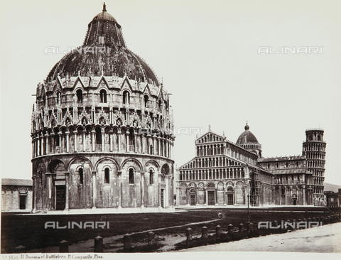 AVQ-A-000039-0041 - Baptistery and Cathedral in Pisa - Data dello scatto: 1870 ca. - Archivi Alinari, Firenze