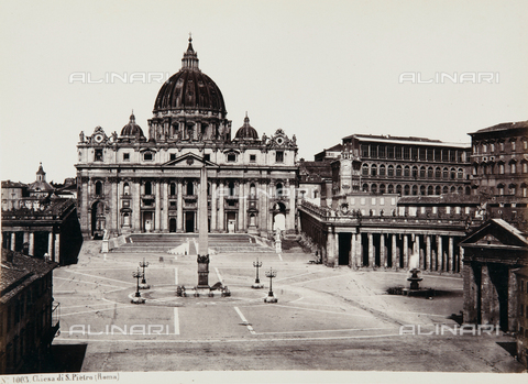AVQ-A-000039-0049 - The Basilica of S. Pietro, Vatican City - Data dello scatto: 1870 ca. - Archivi Alinari, Firenze