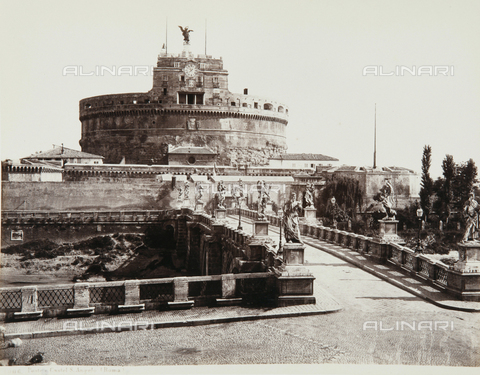 AVQ-A-000039-0051 - Bridge and Castel Sant'Angelo, Rome - Data dello scatto: 1870 ca. - Archivi Alinari, Firenze