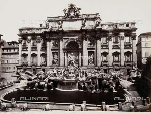 AVQ-A-000039-0053 - Trevi Fountain, Rome - Data dello scatto: 1870 ca. - Archivi Alinari, Firenze