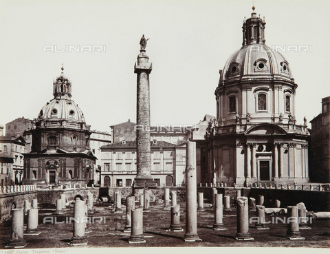 AVQ-A-000039-0055 - The Foro Traiano, Rome - Data dello scatto: 1870 ca. - Archivi Alinari, Firenze