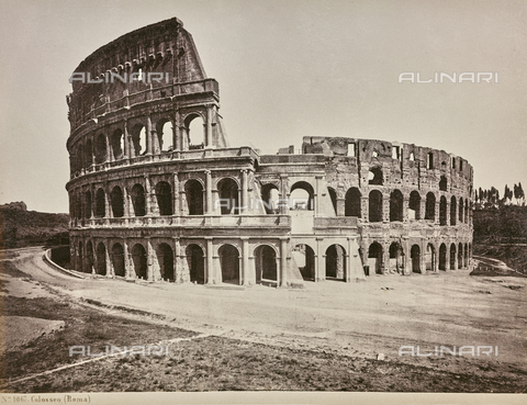 AVQ-A-000039-0061 - The Colosseum or Flavian Amphitheater, Rome - Data dello scatto: 1870 ca. - Archivi Alinari, Firenze