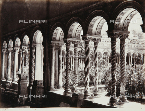 AVQ-A-000039-0062 - A view of the cloister of the Basilica of S. Paolo Fuori le Mura, Rome - Data dello scatto: 1870 ca. - Archivi Alinari, Firenze